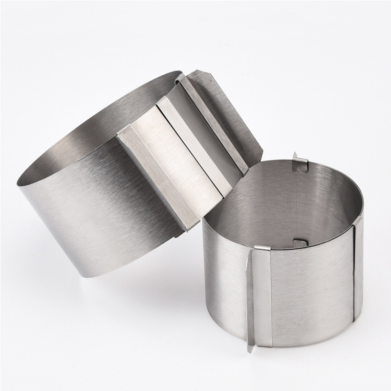 4 Inch Stainless Steel Adjustable Mousse Ring Pastry Decoration Cake Mold Small Round Cake Tool