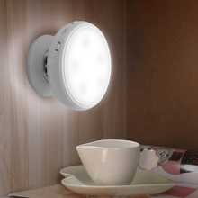 LED Smart  Wall Light Infrared Human Body Motion Sensor Sconce Lamp with 360 degree Rotation For Bedside portable 9 led night light motion sensor 360 degree rotation auto ir infrared luminary lamp ali88
