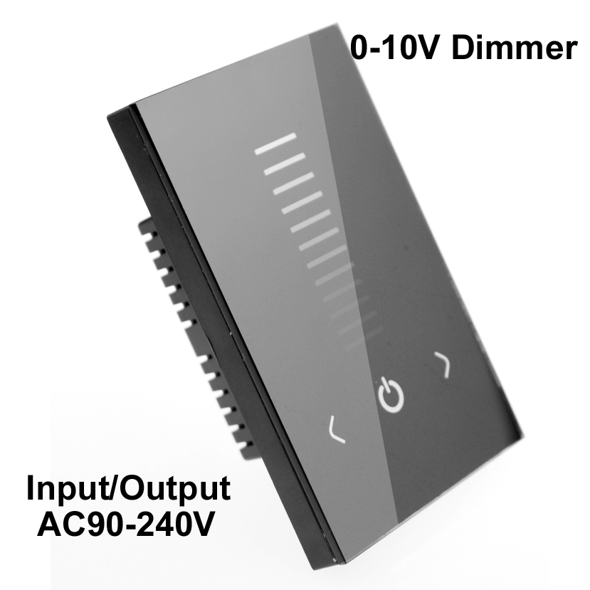 AC 110V 220V Led Dimmer Touch Switch Control 220 V Led Lamps US Standard Output 0-10v Led Dimmer Wall 220v Mounted
