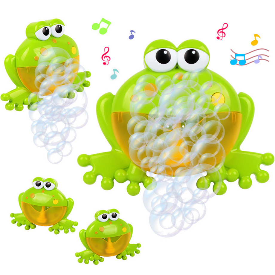 Baby Bath Toy Bubble Machine Big Frogs Automatic Bubble Maker Blower Music Bubble Maker Bathtub Soap Machine Toys For Children