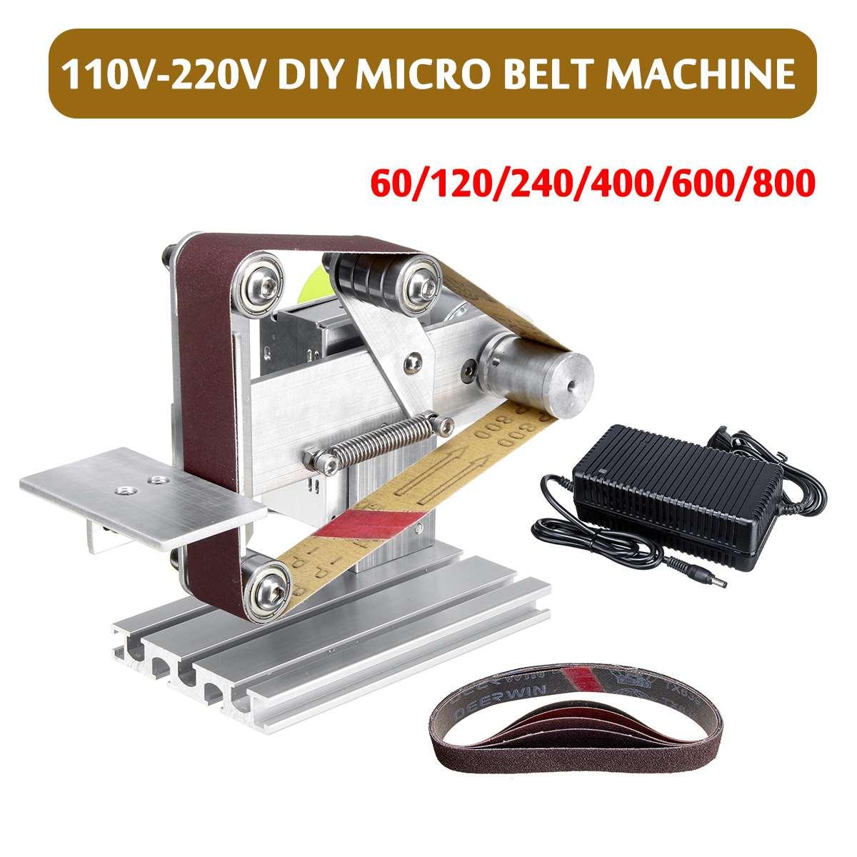 110 V-220 V 250 w Elétrica DIY Mini Lixadeira Polimento Máquina de Moer Espada Livre 6x60 /120/240/400/600/800 Malha Correia Abrasiva