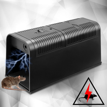 1 Pcs Electric Mouse Rat Mouse Pembunuh Elektronik Pengerat Mouse Zapper Perangkap Manusiawi Hewan Pengerat Tikus Perangkat 235X102X113 Mm DC6V