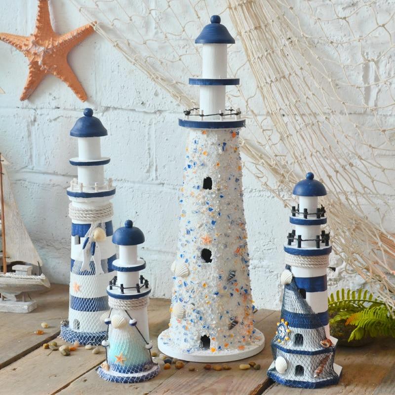 22CM Cute Starfish Shells Nautical Decoration Wooden