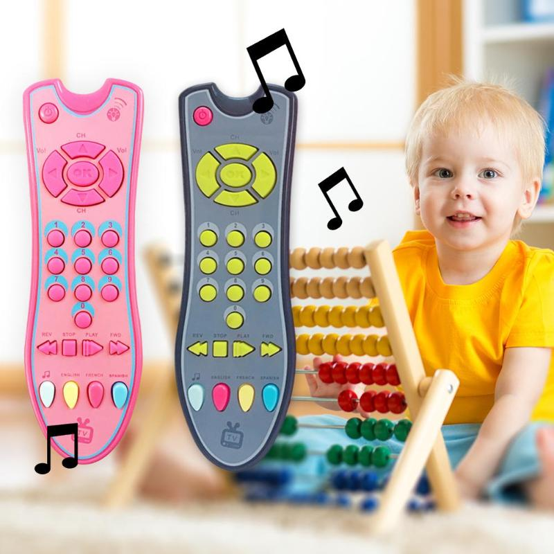 Baby Music Toys Creative Baby Music Simulation Mobile Phone TV Remote Control Early Educational Toys Electric Numbers Remote Toy