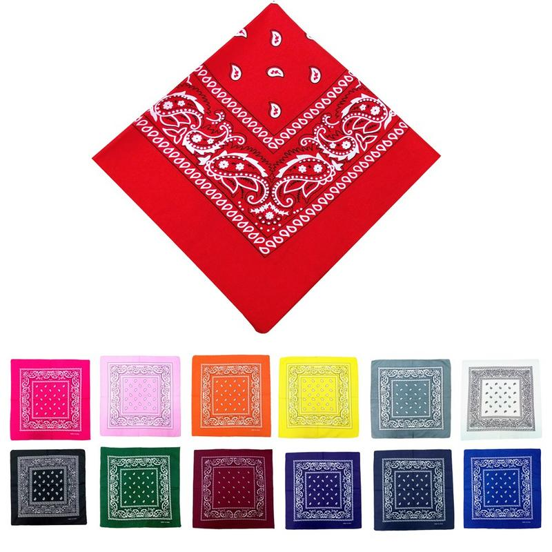 Fashionable Hip Hop Bandana Portable Outdoor Headscarf Square Shawl 55cm Black Red Headband Printed For Women Men Boys Girls