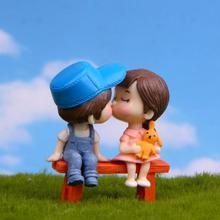 3 шт./компл. принт «милые возлюбленные»; стул Миниатюрная модель Пейзаж DIY садовые украшения для сада куклы игрушки ручной работы украшение ремесло игрушка