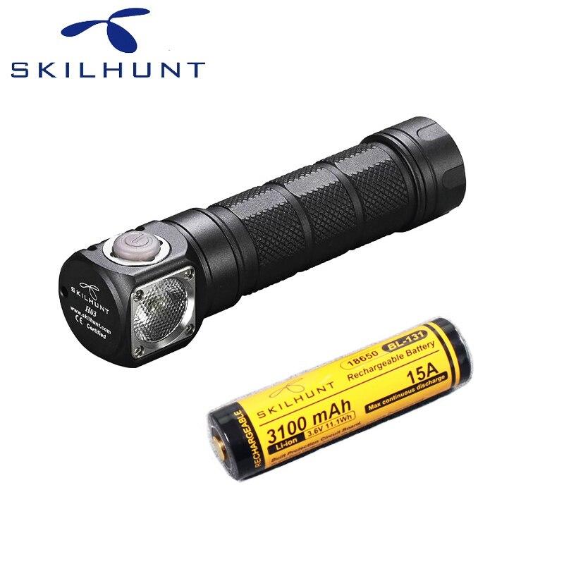 Skilhunt H03 Led Lampe Frontale CREE XML 2 U4 LED 1200Lm HeadLamp Hunting Fishing including battery
