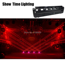 Hot sales rock Laser system show 6 heads laser moving DJ Club Professional Stage Effect Lighting for Disco Xmas home Party