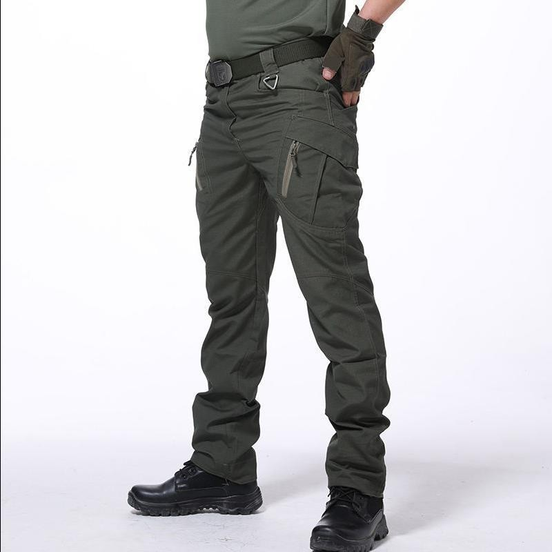 Multi-pocket Urban Tactical Military Combat Pants Men Outdoor Climbing Training Wearproof Slim Straight Army Fans Cargo Trousers