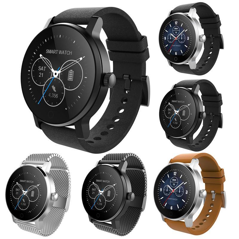 SMA-09 1,3 reloj inteligente IP54 impermeable de templado de vidrio de actividad Bluetooth rastreador de ejercicios monitor del ritmo cardíaco de la de las mujeres de los hombres smartwatch