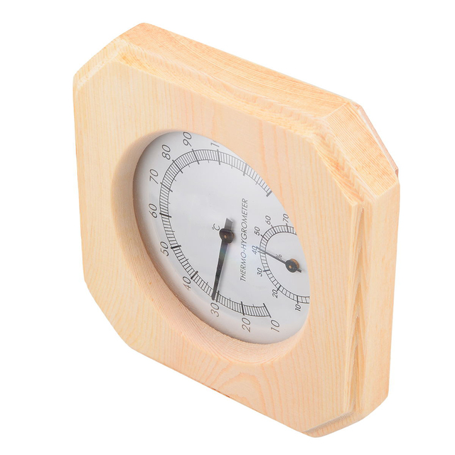 Wood Sauna Thermometer High Quality Hygrothermograph Thermometer Hygrometer Humidity Measurement for Sauna Room