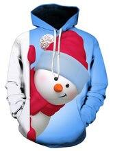 04142b3aace71d Kenancy Women Christmas Sweatshirts Women Hoodies Kangaroo Pocket Snowman  3D Print Christmas Hoodies Hooded Pullover Plus Size