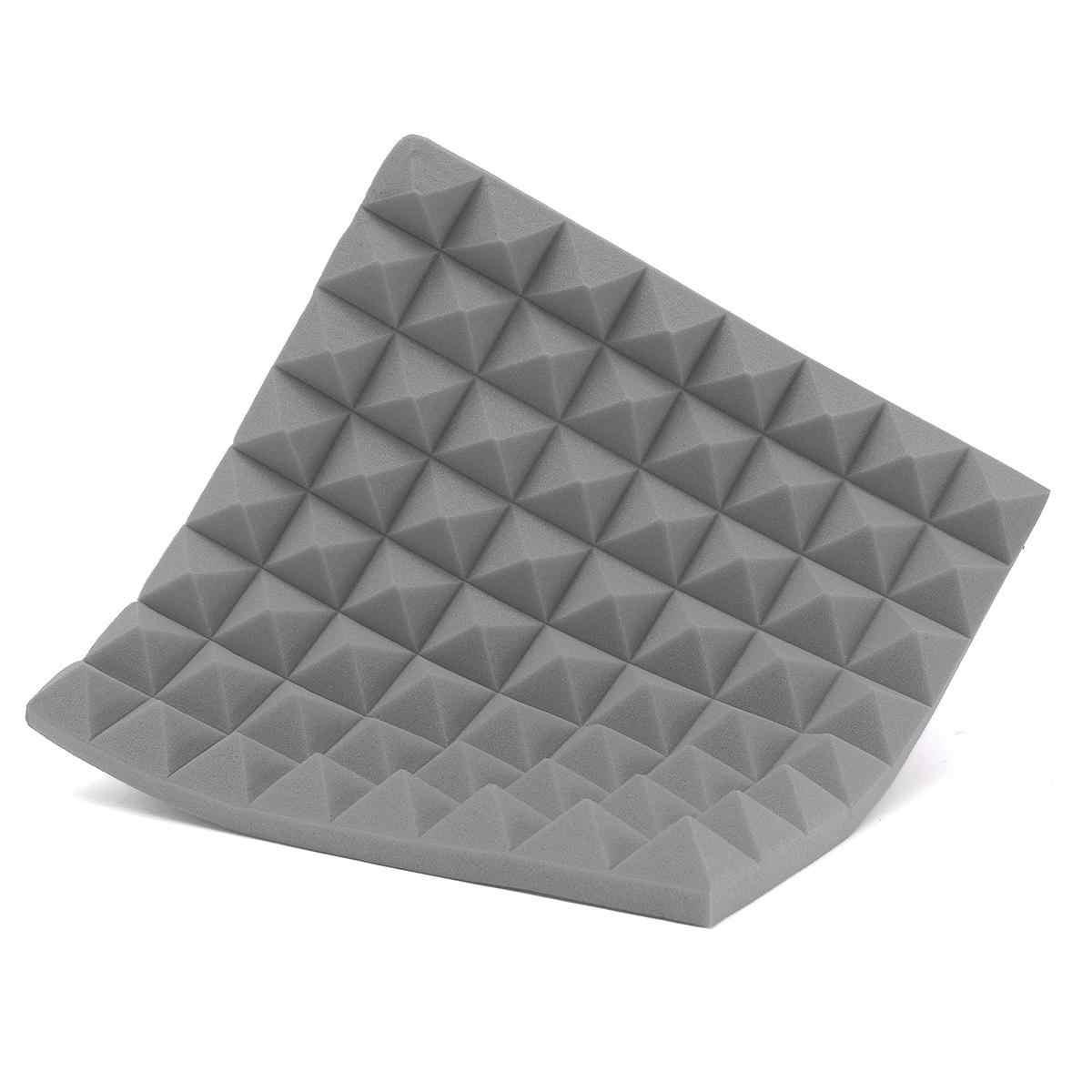 4 sztuk 500X500X50mm dźwiękochłonna pianka pianka akustyczna leczenie dźwięku Studio pokój absorpcja płytki pianka poliuretanowa