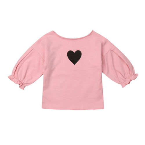 f2b5da7454580 placeholder Toddler Infant Kid Baby Girl Clothing Heart Prints Ruffled T-shirt  Long Sleeve Cute Clothes