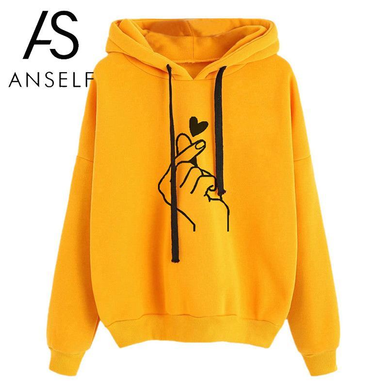 Fashion Women Hoodie Sweatshirts Heart F