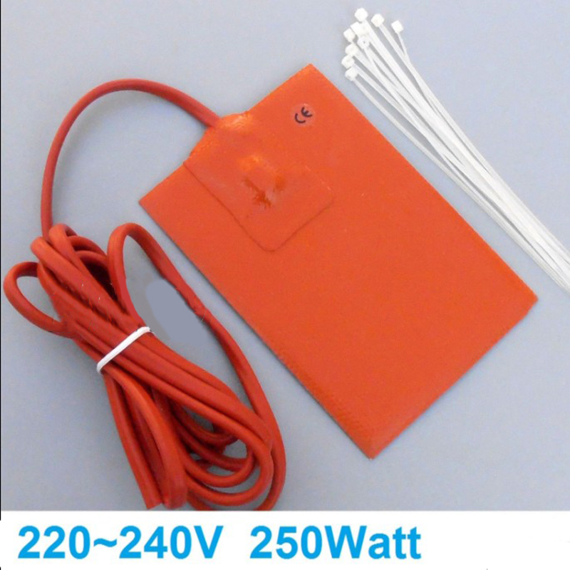 Image 3 - 1pc 250W 9x13cm Engine Oil Pan Sump Tank Heater Pad 220V Silicone Heater Pad Block Hydraulic Tank Heating Plate-in Heater Parts from Automobiles & Motorcycles