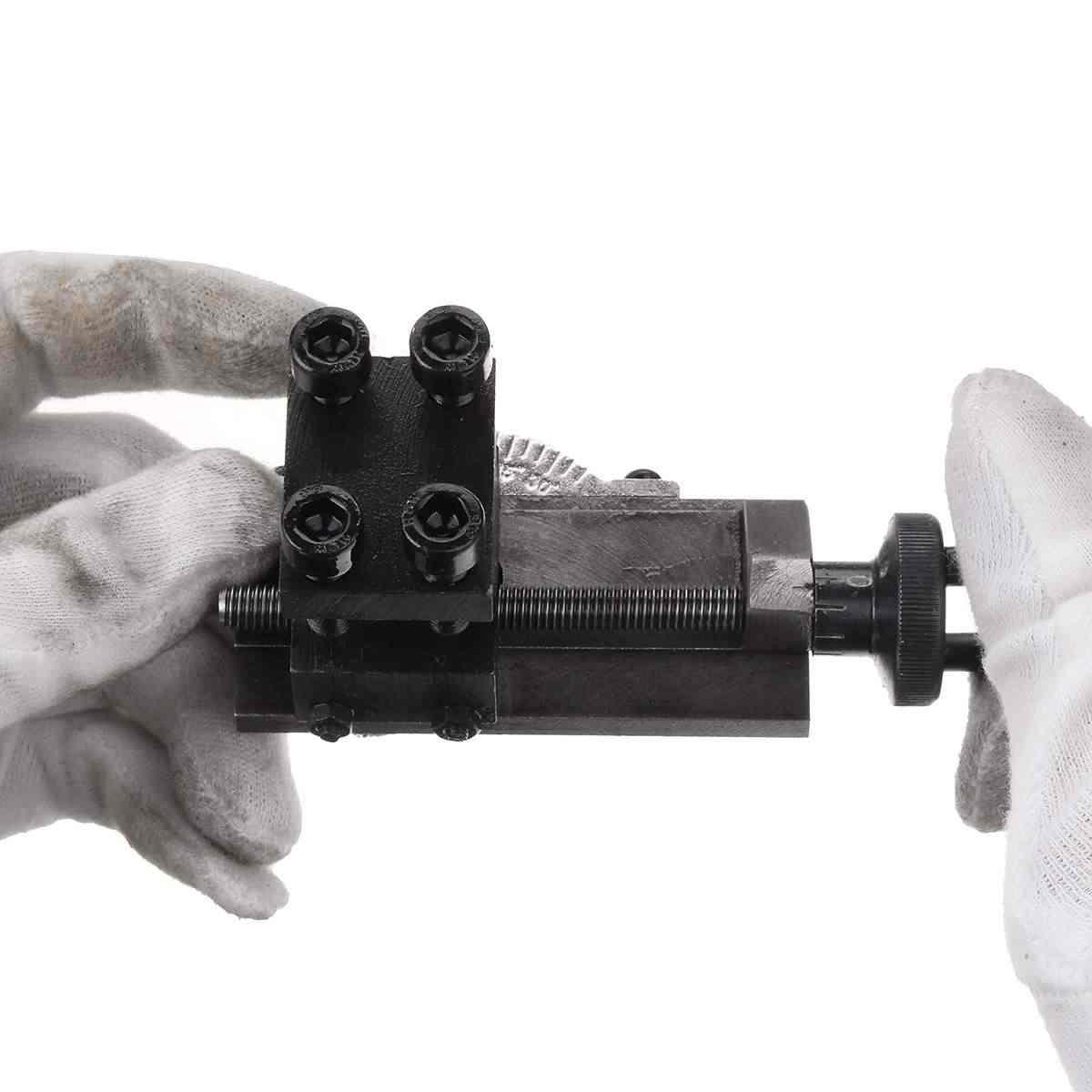 Taşınabilir Mini Torna Takım Tutucu 30 Derece Dönebilen S/N: 10154 SIEG C0 Torna Dayanıklı Siyah Torna Aksesuarı Takım Tutucu