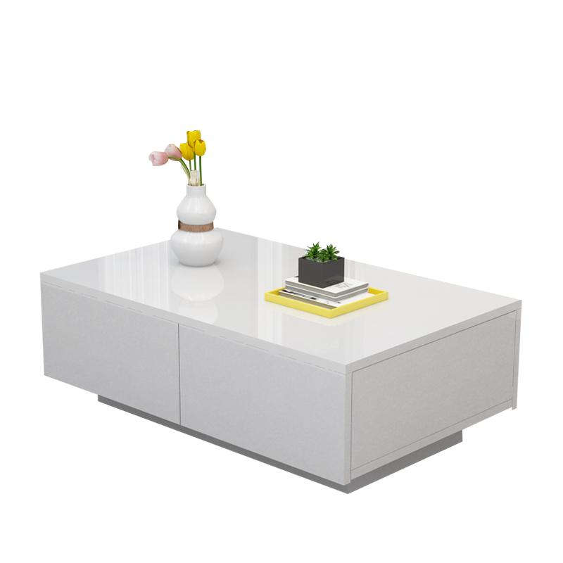 Mdf Cheap Price Coffee Table White High Gloss Center Table: Coffee Table Modern Wood Furniture Side MDF High Gloss