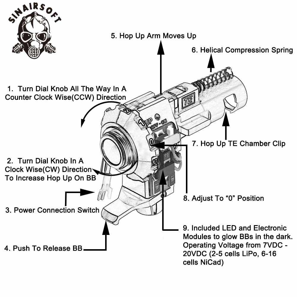 detail feedback questions about tactical pro cnc aluminum red hop up airsoft magazine diagram airsoft hop up diagram [ 1000 x 1000 Pixel ]
