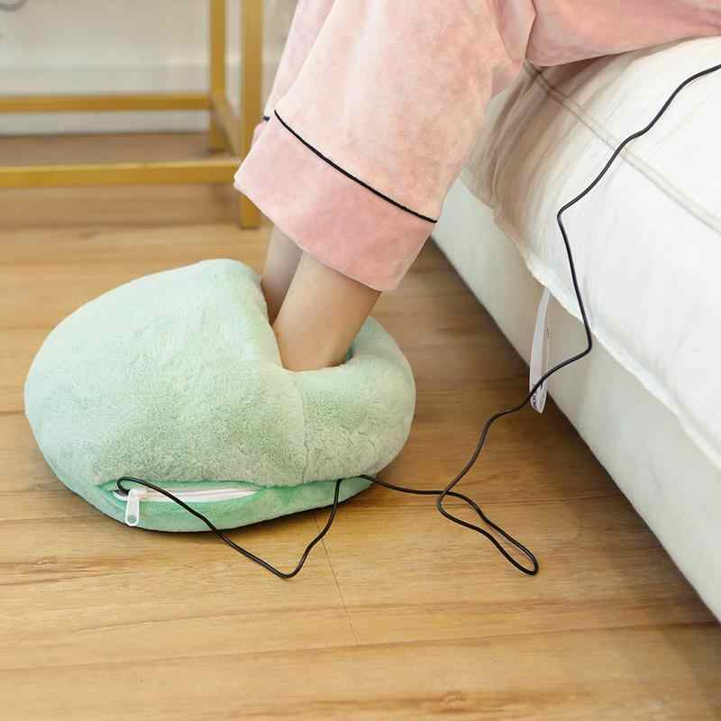 a25995b21d9f Winter Big Foot Warm Heating Pad Slippers Warm Solid Color USB Foot Warmer  Shoes For Office