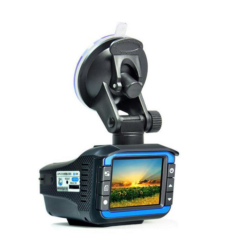 2 dans 1 720 p Détecteurs De Radar de Voiture DVR Enregistreur Vitesse Détecteur Voix Russe Caméra Dash Cam Fixe Vitesse D'écoulement mesure