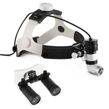 Medical Binocular Loupe 4.0/5.0/6.0X  Magnifier Dental Surgical Loupe+5W LED Headlight Headlamp