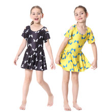 Girls Muslim Swimwear Islamic Children Two-piece Short Sleeve Swimsuits Arab Islam Beach Wear Swimdress Suits Burkinis Swim Pant(China)