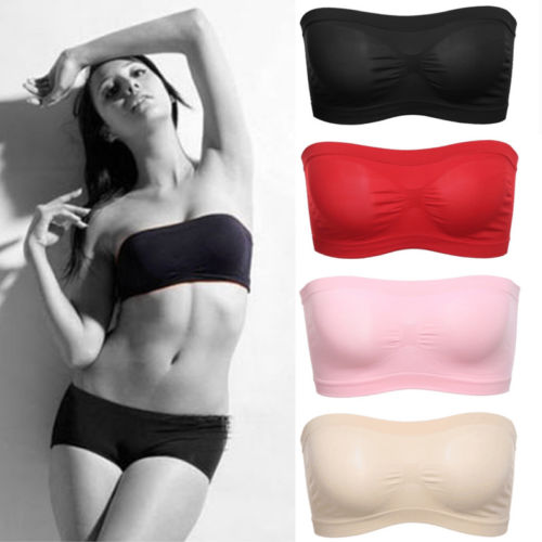 0de19b5c7a Detail Feedback Questions about Womens Plain Strapless Boob Tube Bandeau  Crop Top Stretch Bralet Bra Sexy Ladies Solid Hot Tube Tops Clothing  Intimite on ...