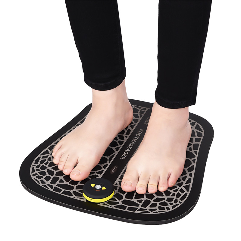 Rechargeable EMS Foot Massager Foot Muscle Stimulator Shiatsu Knead Pain Relief Mat Heel Massage Pad Promote Blood CirculationRechargeable EMS Foot Massager Foot Muscle Stimulator Shiatsu Knead Pain Relief Mat Heel Massage Pad Promote Blood Circulation