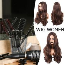 Women Long Curly Cosplay Wig Heat Resistant Fiber Natural Synthetic Hair Full Head Wigs недорого
