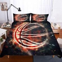 מצעי סט 3D מודפס שמיכה כיסוי מיטת סט כדורסל טקסטיל מבוגרים כמו בחיים מצעי עם ציפית # LQ02