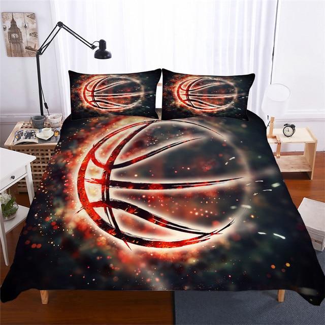 Set di biancheria da letto 3D Stampato Duvet Cover Bed Set Basket Tessuti per La Casa per Adulti Realistico Biancheria Da Letto con Federa # LQ02