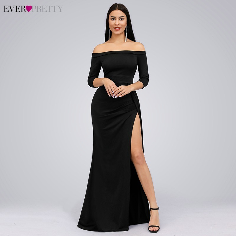 Vintage Evening Dresses Ever Pretty EP07852 Elegant Mermaid Off The Shoulder Empire 2020 Simple Party Gowns Robe De Soiree