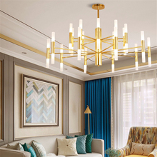 Modern 20/40heads Gold Led Chandeliers NordicLuxury Hotel Hall Restaurant Chandelier Iron Ceiling Lamp Lighting Luminarias
