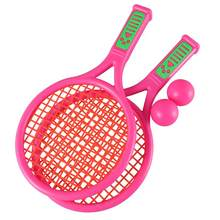 1 Pair Of Children Tennis Racket Kids Plastic Badminton Rackets Game Props For Kindergarten Primary School(China)