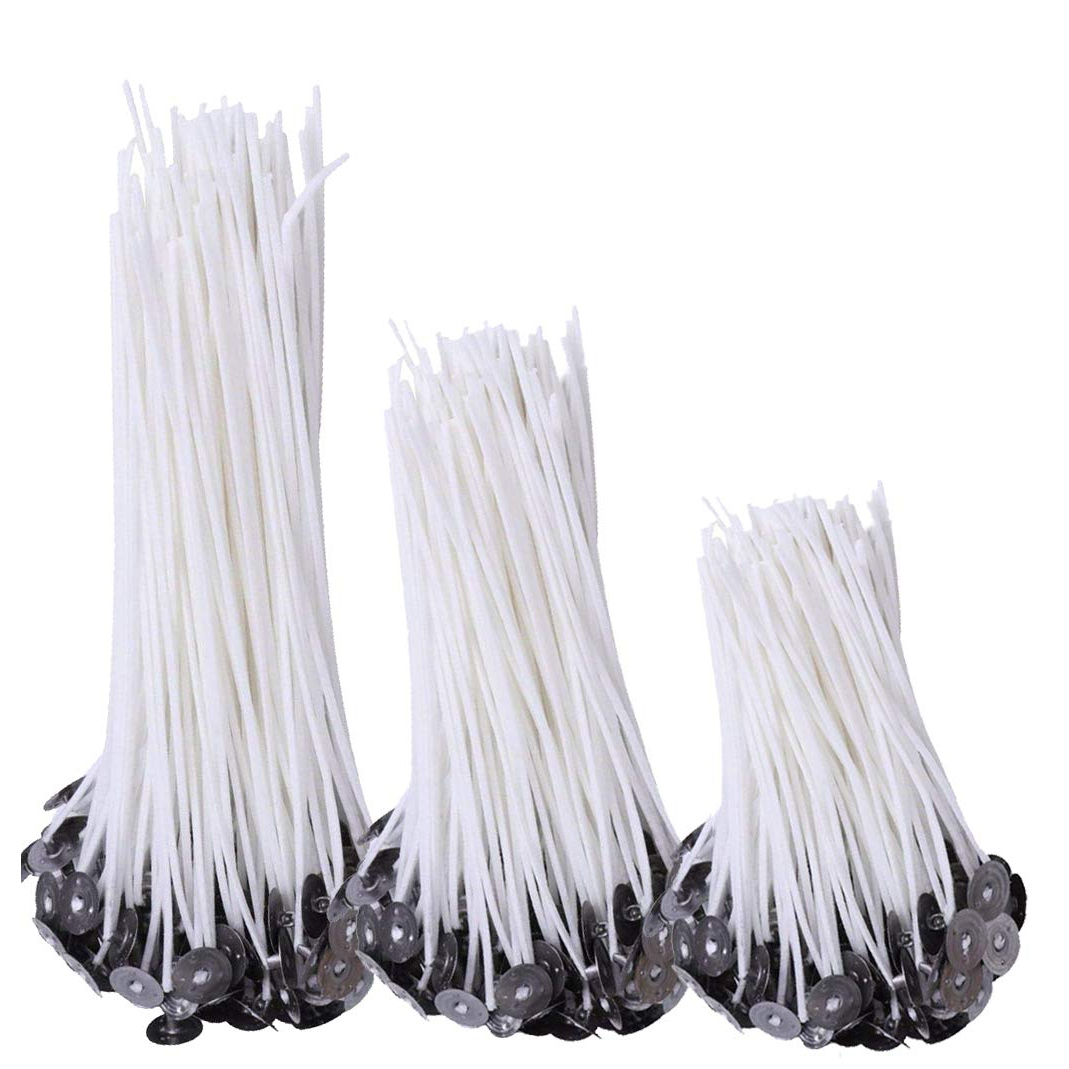 Practical Boutique 150Pcs Natural Candle Wicks 50Pcs 8 Inch Candle Wicks 50Pcs 6 Inch Candle Wicks 50Pcs 4 Inch Candle Wick