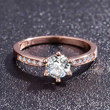 hot deal buy hot rose gold color crystal rings for women zircon female rings engagement wedding valentines gift
