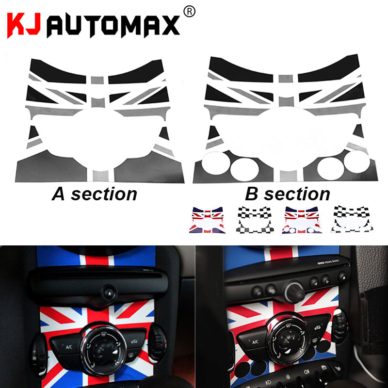 KJAUTOMAX Center Console Sticker For Mini Cooper R55 R56 R57 R58 R59 R60 F54 F55 F56 Car Styling Accessories