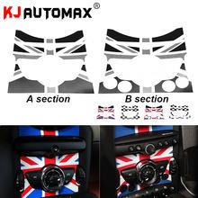 Kjautomax center console adesivo para mini cooper r55 r56 r57 r58 r59 r60 f54 f55 f56 estilo do carro acessórios
