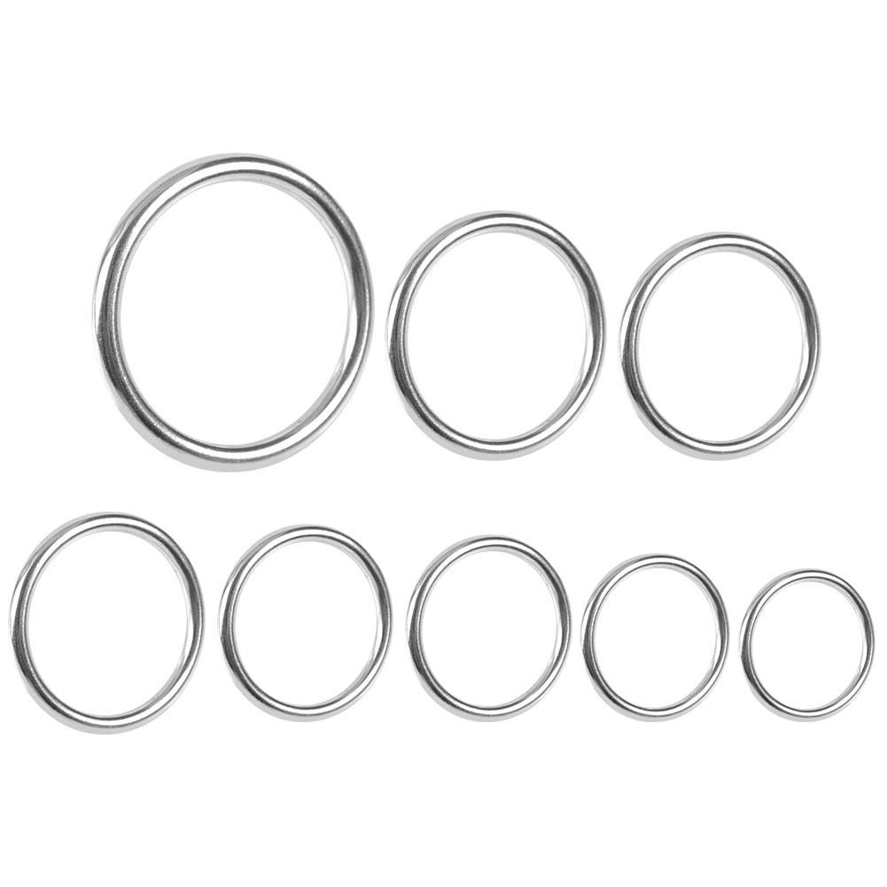 Lot 10pc Smooth Welded Polished Boat Marine Stainless Steel O Ring 20mm 35mm