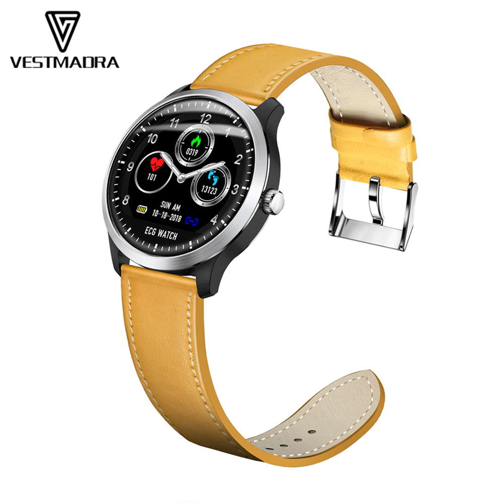 VESTMADRA N58 ECG PPG Smart Watch with Electrocardiogram Measurement Men Fitness Heart Rate Monitor Stainless Steel SmartwatchVESTMADRA N58 ECG PPG Smart Watch with Electrocardiogram Measurement Men Fitness Heart Rate Monitor Stainless Steel Smartwatch