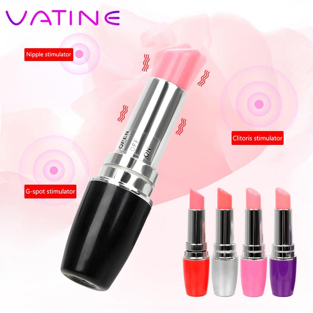 VATINE Mini  Lipstick Vibrator Waterproof Jump Egg G Spot Quiet Sex Toy EroticMachine Products For Woman Discreet