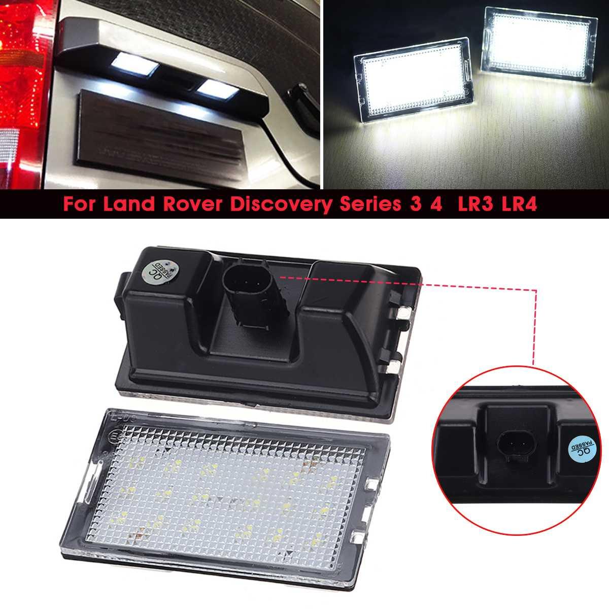 2x 12V Error Free LED License Plate light Lamp For Land Rover Discovery LR3 LR4