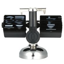 Scale Table Clock Stainless Steel Flip Over Internal Gear Operated Quartz Desk Clock Black/White
