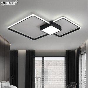 Image 5 - Modern LED avizeler işık lamba oturma odası aydınlatma üç kare yatak odası mutfak yüzey montaj kısılabilir uzaktan kumanda ile
