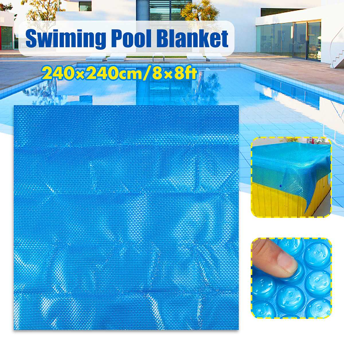 US $46.67 8% OFF|240*240cm Square Solar Swimming Cover Hot Tub Outdoor  Garden Pool Blanket Protector Dustproof Cloth Mat Cover Accessories-in Pool  & ...