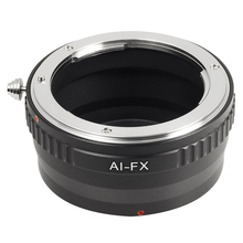 Black Lens Adapter For Nikon F AI Lens to Fujifilm X Mount Camera Fit Fuji X