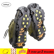 10 Rubber Teeth Non-Slip Ice Gripper Snow Crampon Mountaineering Climbing Hot Size 31~48 Winter Boots Spike Simple Gripper