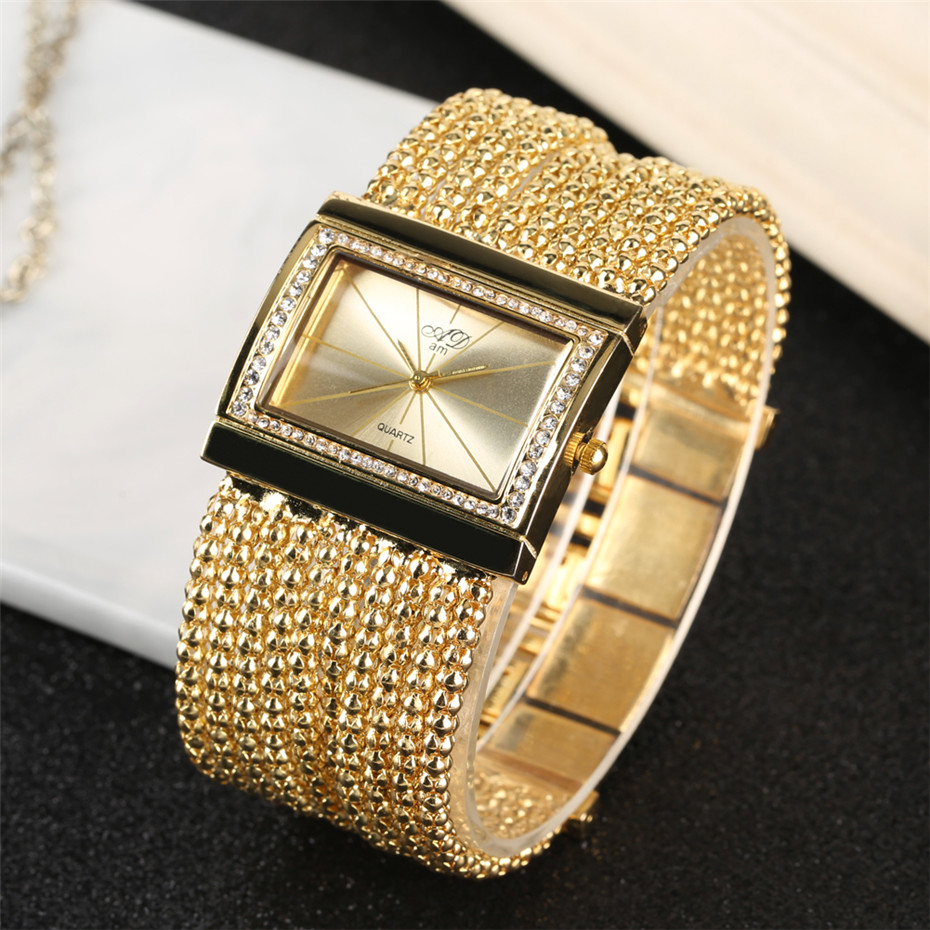 Elegant Womens Watches Quartz Tassel Steel Watch Band Creative Rectangle Lady Wristwatches reloj para mujer New Arrival 2019 4