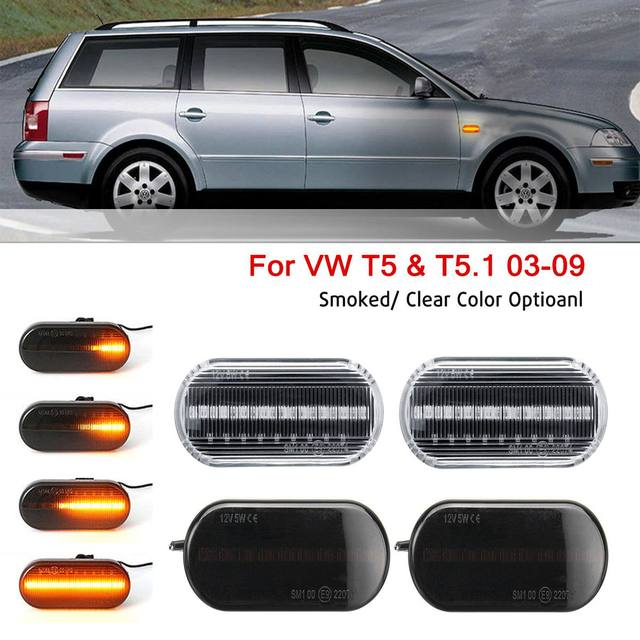 1Pair Smoke or Clear LED Side Repeaters Indicator Light For VW Golf /Passat /Bora/T5/Polo Great Quality Dynamic Flowing Led